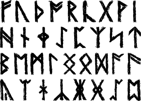 Set of sketched runes for propagations and design purposes