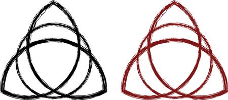 デザイン、インフォ グラフィックの様式化されたケルト triquetra  イラスト・ベクター素材