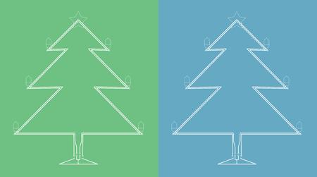 Christmas tree blueprint made of circuit board 일러스트