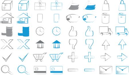 Set of eshop icons for webdesign purpose 일러스트