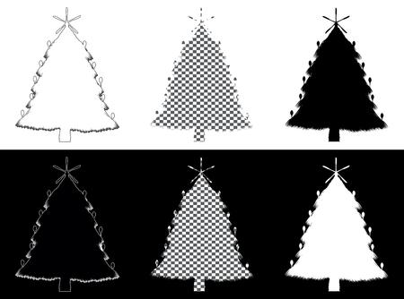 Decorative christmass tree made of silverware