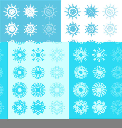Decoration snowflake set in color variation