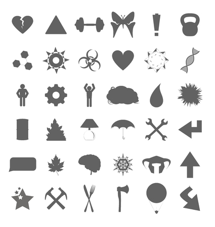 Set of various symbols and icons for web and eCommerce