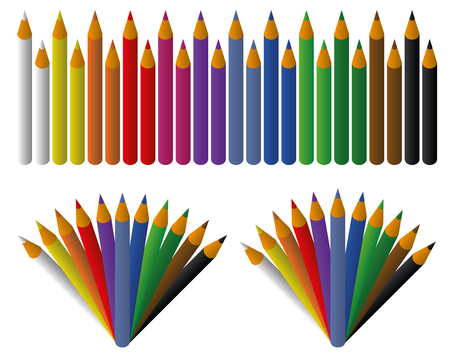Colored pencils set for design and graphical layouts