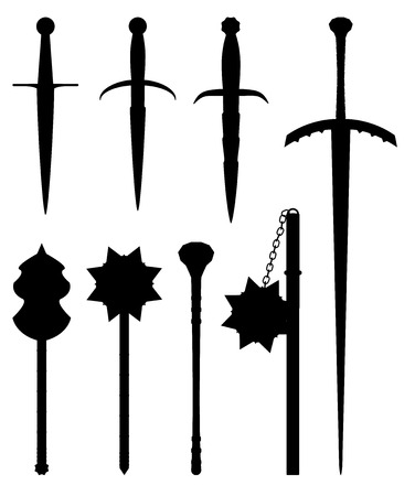 Middle age weapon set for design and graphical layouts