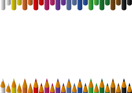 Rainbow pencils background for invitation cards and posters