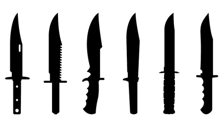 Knives set for design and info graphic