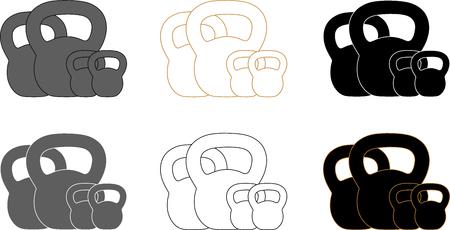 Presentation logotype for kettlebell training Illustration
