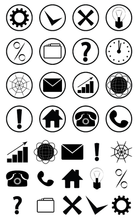 Set of icons for web design, posters and info graphics