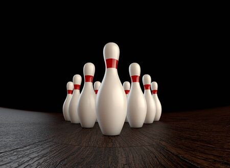 Ultra-high resolution 1st  zero  frame of  3D animation of ten-pin bowling strike