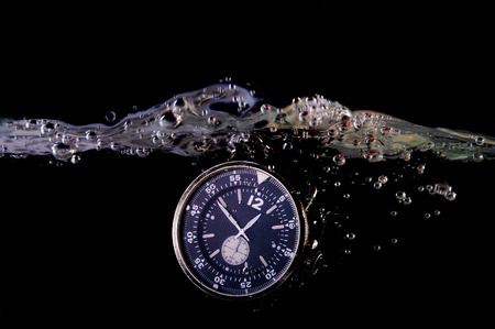 resistant: water resistant watch Stock Photo