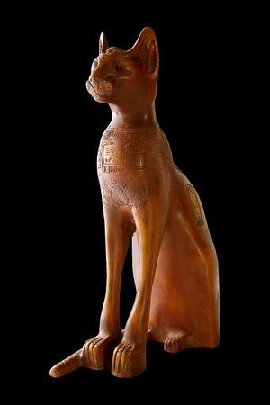 egyptology: Egypt cat statuette