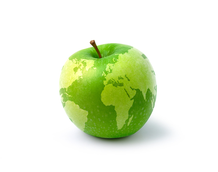 green apple: mapa manzana Foto de archivo