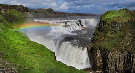 アイスランドの滝。グトルフォス。 写真素材