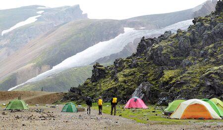 観光テント キャンプで。がたがた。アイスランド