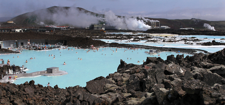 blue lagoon: Blue Lagoon in Islanda. Reykjavik. Archivio Fotografico