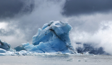 iceberg: Natural iceberg in the ocean in northern Iceland Stock Photo