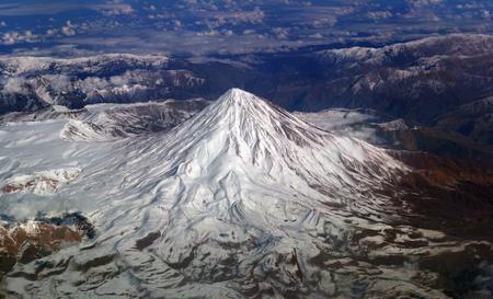 飛行機からマウンテン ビューの上部。