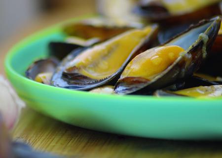 ムール貝の皿の上