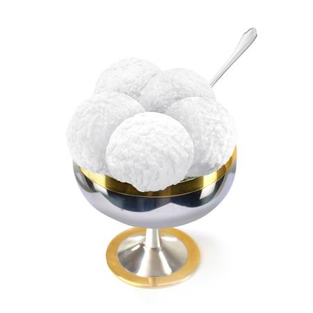 ice cream ball dessert 写真素材