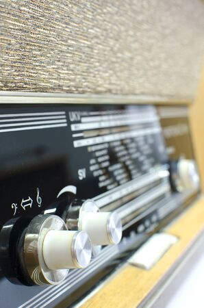 modulator: Old vintage radio buttons from sixties.