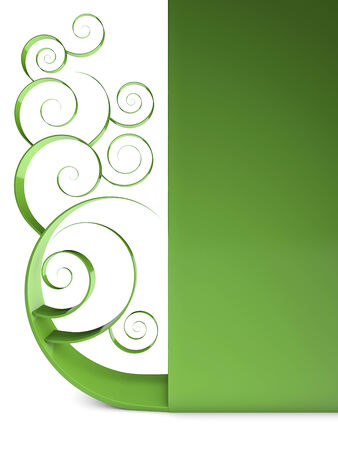 green swirl: Green swirl, curl isolated background