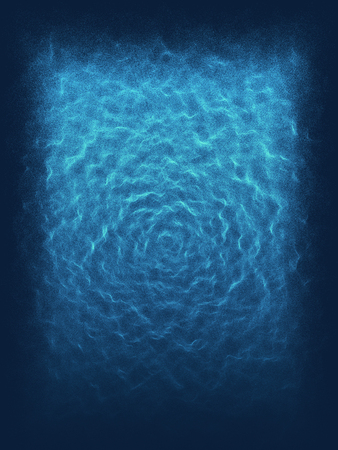 abyss: Blue background with waves and lines