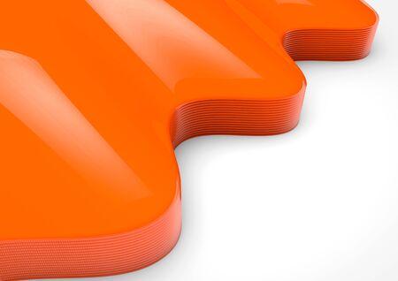 orange swirl: Orange swirl background isolated on white. Stock Photo