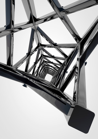 steelwork: Metal steel industry construction for background Stock Photo