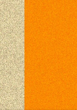 background project: Orange cubic mosaic made from cubic elements.