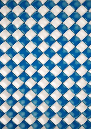 rattan: Background with blue and white wave like basket case. 3d rendering Stock Photo