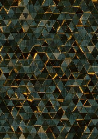 glass reflection: Abstract triangle glass with reflection. 3d rendering