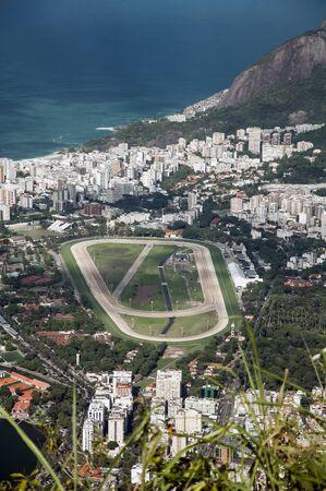 hippodrome: Rio de Janeiro hippodrome and cityscape