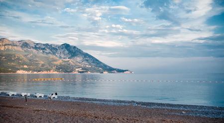 The resort town of Becici in Montenegro
