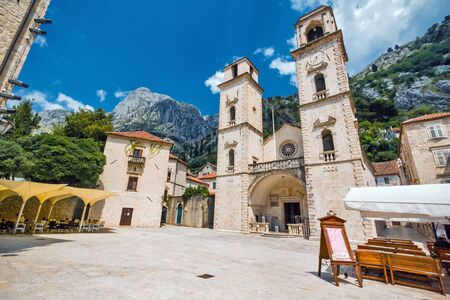 kotor: Cathedral of Saint Tryphon in Kotor, Montenegro Stock Photo