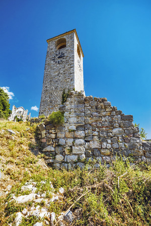 serbian: Old Bar fort in Montenegro Stock Photo