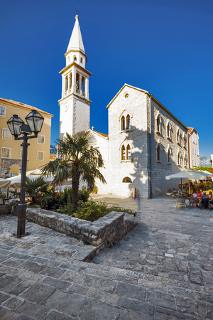 BUDVA, MONTENEGRO - JUNE 28, 2010: Budva is one of the prominent tourist destinations in Montenegro.