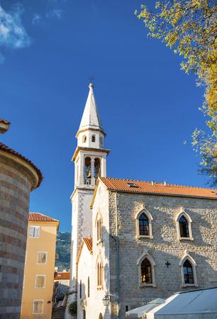 Church in Budva. Montenegro Stock Photo
