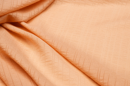 Cotton fabric peach color.
