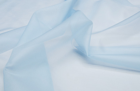 Silk fabric, organza blue.