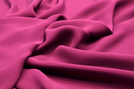 Fabric made of silk kadi and elastane stretch burgundy color Banco de Imagens