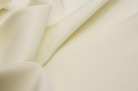 Viscose and silk fabric, ivory