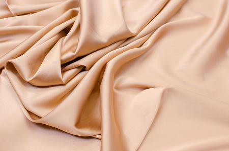 Satin silk fabric in light beige