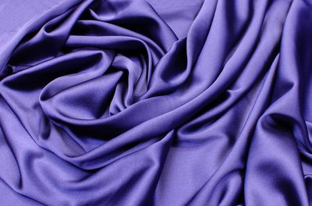Silk satin fabric in blue