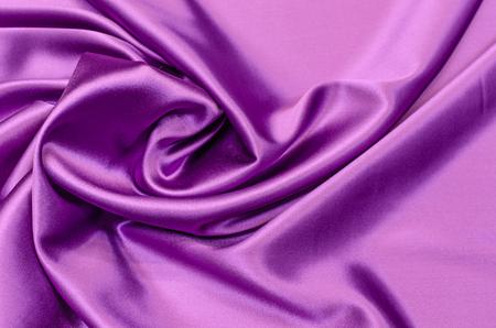 Silk fabric, satin light lilac color Stock fotó