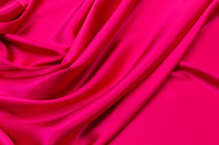 Silk fabric, satin dark pink Imagens
