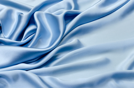Silk, satin fabric blue