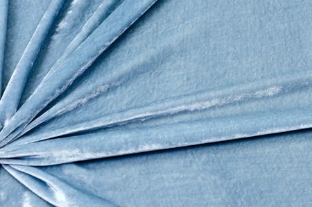 Gray-blue viscose with silk, velvet fabric