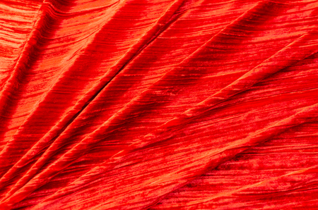 Red silk viscose, velvet fabric