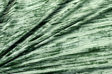Green silk viscose velvet fabric